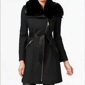 Via Spiga Jackets & Coats - Winter Coat - Via Spiga Black with Faux Fur